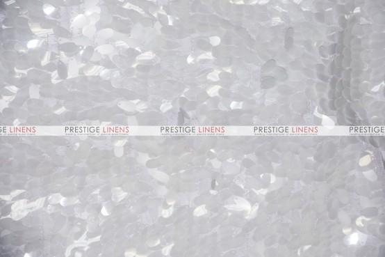 Raindrop Sequins Table Linen - White