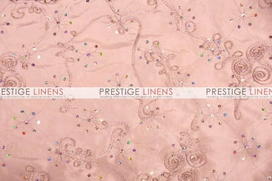 Ribbon Sequins Taffeta Table Linen - Blush