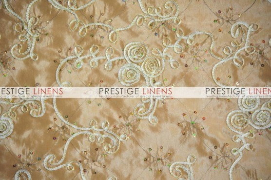 Ribbon Sequins Taffeta Table Linen - Gold