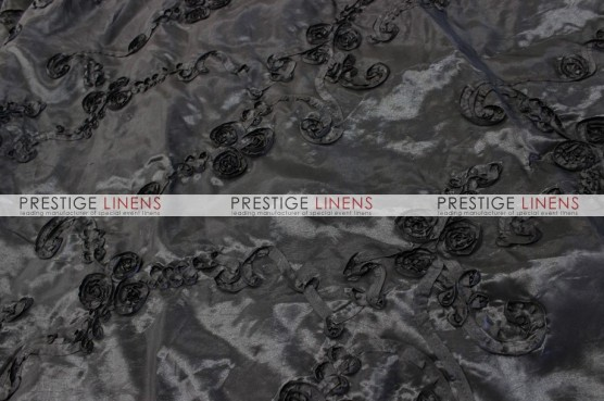 Ribbon Taffeta Table Linen - Black