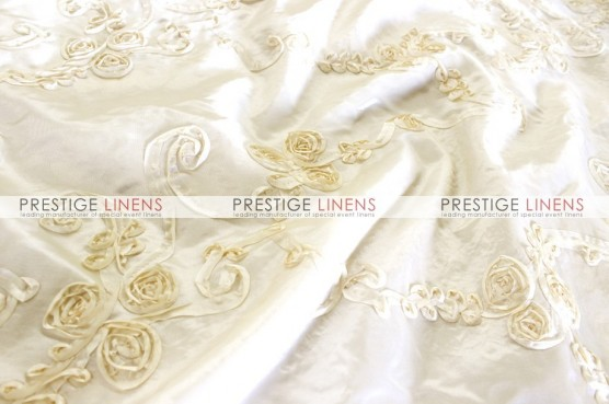 Ribbon Taffeta Table Linen - Ivory