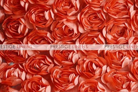 Rose Bordeaux Table Linen - Coral