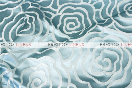 Rose Jacquard Table Linen - Aqua