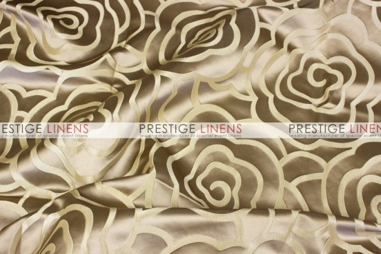 Rose Jacquard Table Linen - Gold