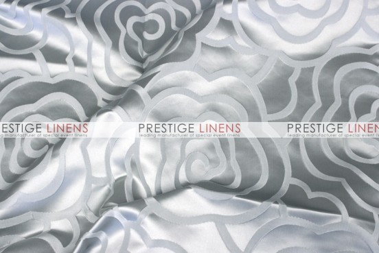 Rose Jacquard Table Linen - Silver