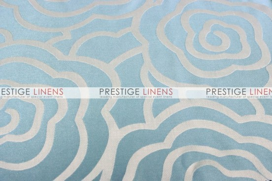 Rose Jacquard Table Linen - Turquoise