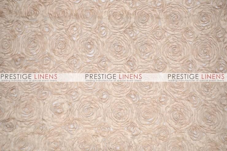Rosette Chiffon Table Linen Champagne Prestige Linens