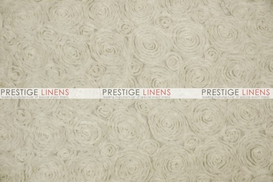 Rosette Chiffon Table Linen  -  Ivory