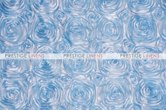 Rosette Satin Table Linen - Baby Blue