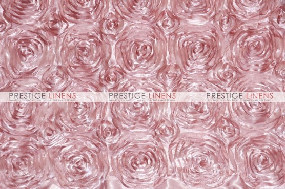 Rosette Satin Table Linen - Blush