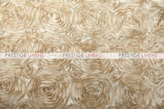 Rosette Satin Table Linen - Champagne