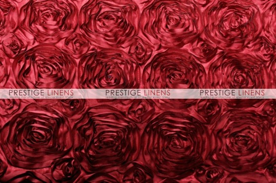 Rosette Satin Table Linen - Cherry