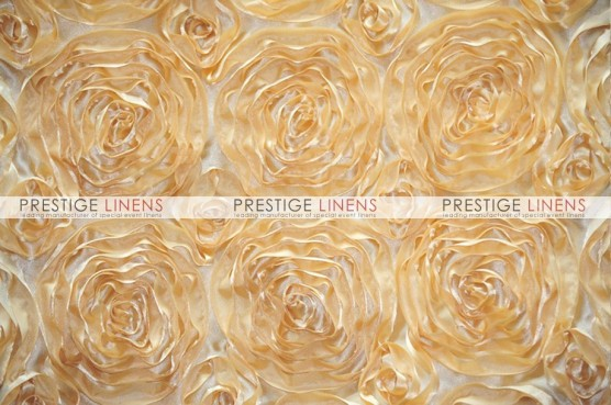 Rosette Satin Table Linen - Honey