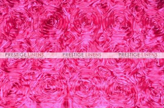 Rosette Satin Table Linen - Hot Pink