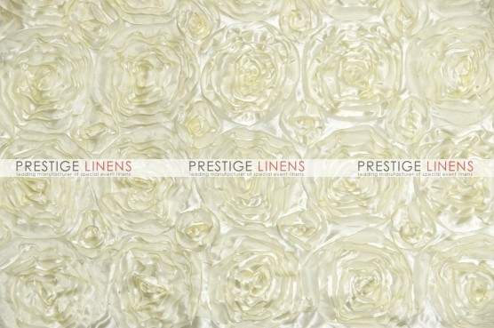 Rosette Satin Table Linen - Ivory