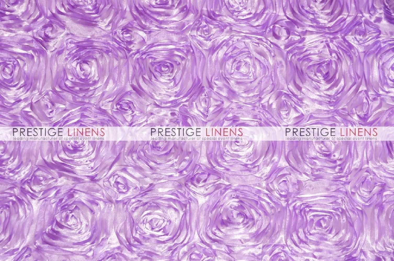 Rosette Satin Table Linen Lavender Prestige Linens