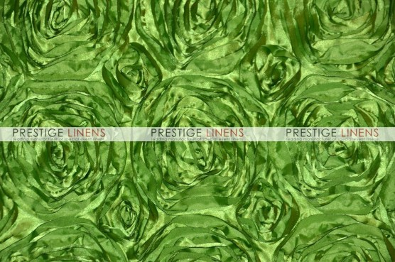 Rosette Satin Table Linen - Lime