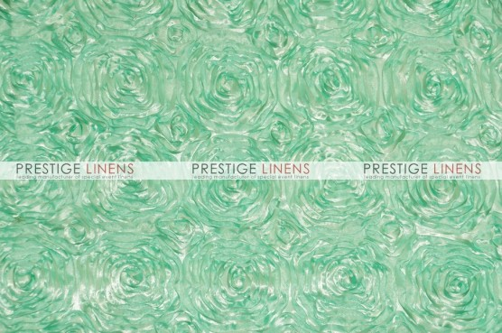 Rosette Satin Table Linen - Mint