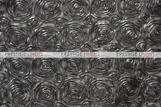 Rosette Satin Table Linen - Platinum