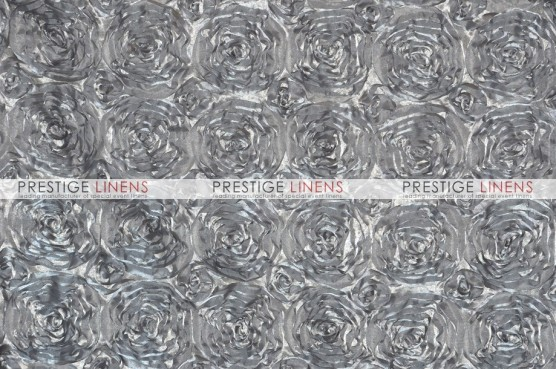 Rosette Satin Table Linen - Silver