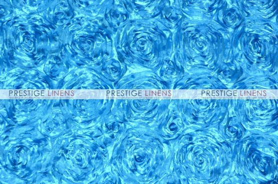 Rosette Satin Table Linen - Turquoise