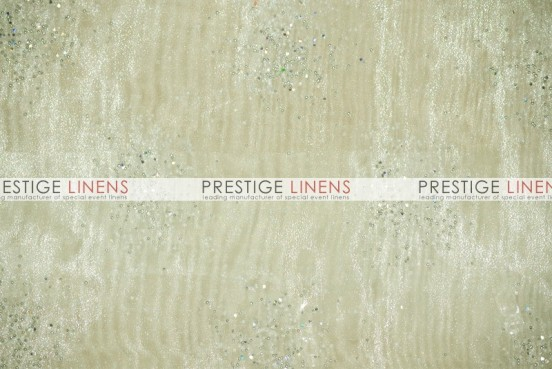 Sparkle Organza Table Linen - 128 Ivory