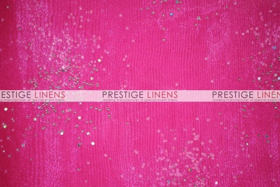 Sparkle Organza Table Linen - 528 Hot Pink