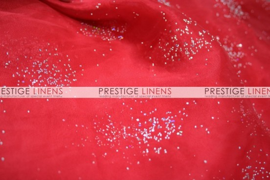 Sparkle Organza Table Linen - 626 Red
