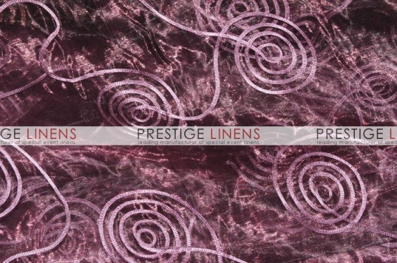 Spiral Ribbon Organza Table Linen - 1034 Plum