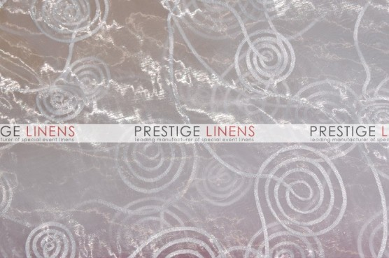 Spiral Ribbon Organza Table Linen - 126 White