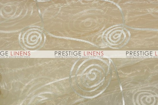 Spiral Ribbon Organza Table Linen - 128 Ivory