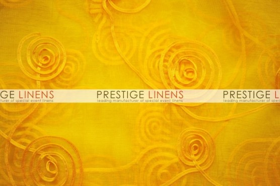Spiral Ribbon Organza Table Linen - 426 Yellow
