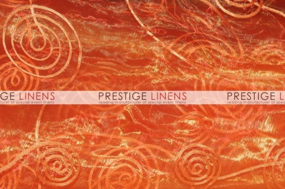 Spiral Ribbon Organza Table Linen - 431 Orange