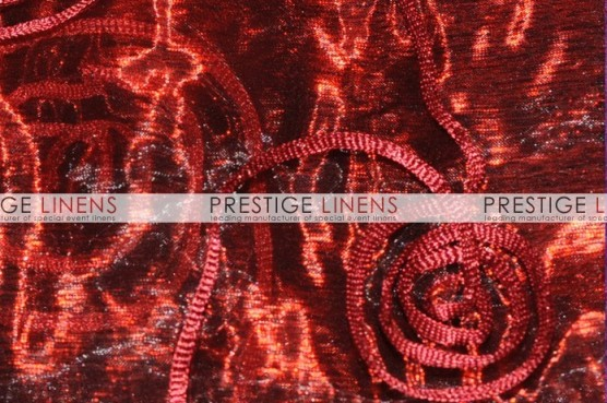 Spiral Ribbon Organza Table Linen - 628 Burgundy