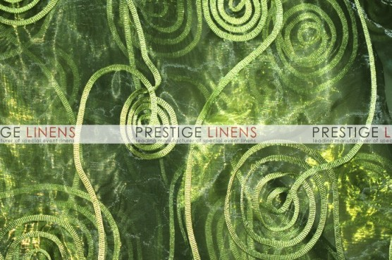 Spiral Ribbon Organza Table Linen - 830 Olive