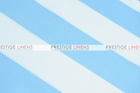 Striped Print Poly Table Linen - Blue