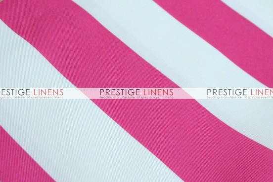 Striped Print Poly Table Linen - Fuchsia