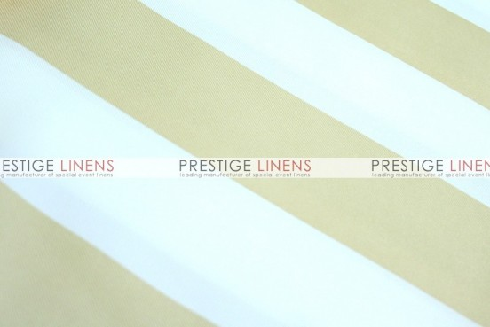 Striped Print Poly Table Linen - Khaki