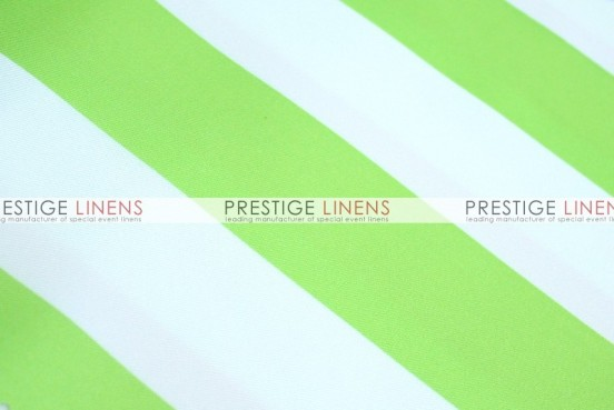 Striped Print Poly Table Linen - Kiwi