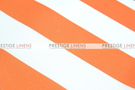 Striped Print Poly Table Linen - Orange