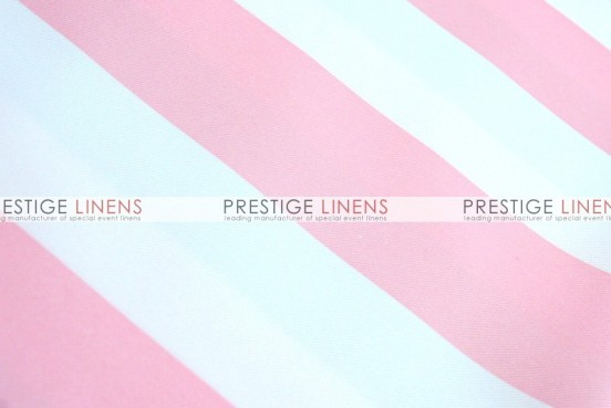 Striped Print Poly Table Linen - Pink
