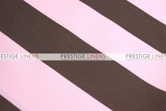 Striped Print Poly Table Linen - Pink/Brown