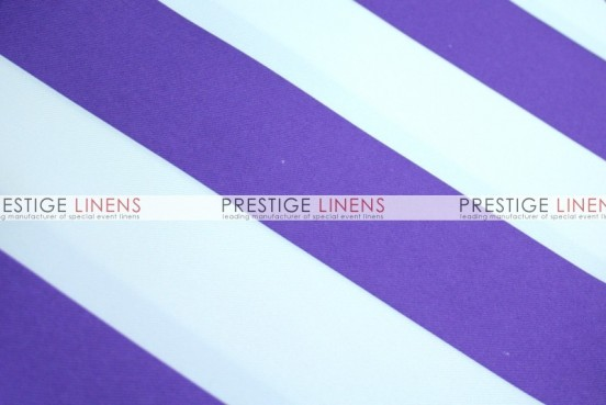 Striped Print Poly Table Linen - Purple
