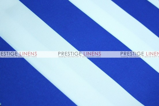 Striped Print Poly Table Linen - Royal