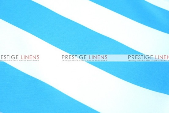 Striped Print Poly Table Linen - Turquoise