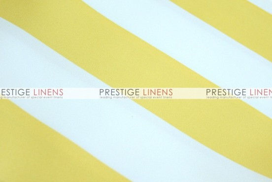 Striped Print Poly Table Linen - Yellow