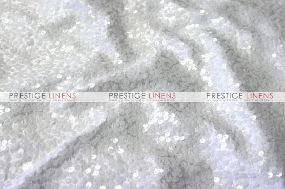 Taffeta Sequins Embroidery Table Linen - White