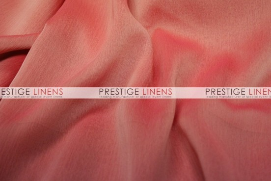 Two Tone Chiffon Table Linen - Coral/Pink