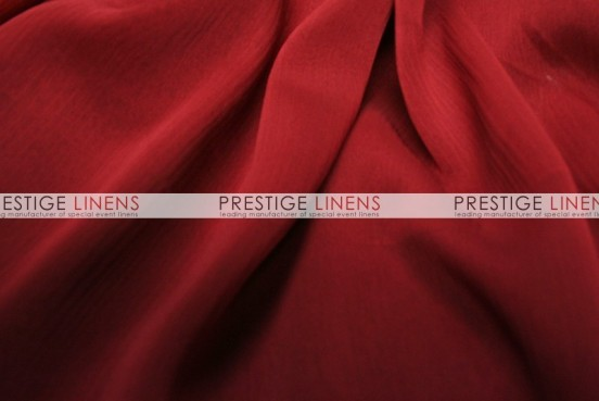 Two Tone Chiffon Table Linen - Dk Red