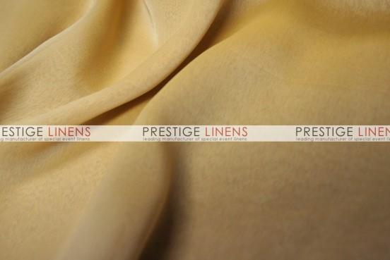 Two Tone Chiffon Table Linen - Mustard/White